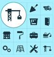 building icons set collection of spatula lifting vector image vector image