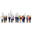business people on a cityscape background vector image vector image