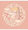 Cartoon of Cupid vector image vector image