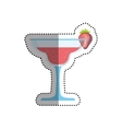 Cocktail glass cup vector image vector image