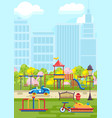 colorful playground in city vector image vector image