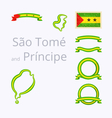 Colors of Sao Tome and Principe vector image vector image