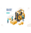 concept parcel warehouse vector image