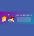 conflict resolution flat gradient vector image vector image