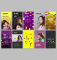 creative social networks stories design vertical vector image