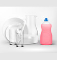 dish soap realistic composition vector image vector image