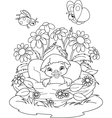Duckling Coloring Page vector image vector image