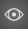 eye sketch logo doodle icon vector image