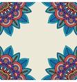 floral rosettes doodle hand drawn frame vector image vector image