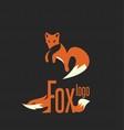 fox logo 8 vector image vector image