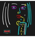 Girl in The Bar vector image vector image