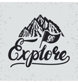Go explore hand written lettering typography with vector image vector image