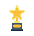gold star trophy icon vector image vector image