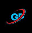 gp g p letter logo design initial letter gp vector image vector image