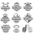 greyscale football logo collection vector image vector image