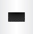 halftone background black business card template vector image vector image