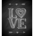 Hand Drawn Love Poster vector image vector image