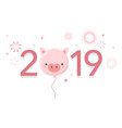 happy chinese new year 2019 year pig vector image vector image