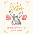 happy easters vintage poster template vector image