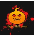 Happy Halloween Banner With Pumpkin vector image