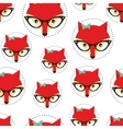 Hipster seamless pattern with red lady fox vector image vector image