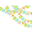 holiday greeting card with garland of flags vector image