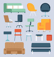 home and office chairs and couches vector image vector image