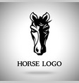 horse head logo template vector image