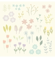 Isolated floral elements vector image vector image