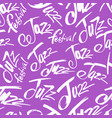 jazz brush pen lettering seamless pattern vector image vector image
