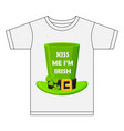 kiss me im irish t-shirt design vector image vector image
