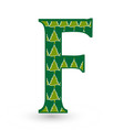 letter f christmas festive font icon vector image vector image