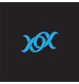 linked alpha 3d overlapping ribbon symbol logo vector image vector image