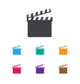of movie symbol on clapper vector image