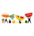 organic healthy diet concept vector image vector image