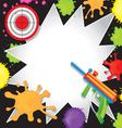 Paintball Birthday Invitation vector image
