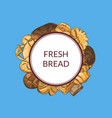 pile of hand drawn colored bakery elements vector image