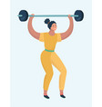 power lifting exercises concept vector image vector image