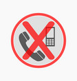 prohibiting sign for cell phone no phone sign vector image vector image