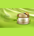 repairing cream with snail mucus banner vector image
