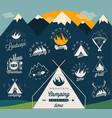 retro vintage style symbols for mountain expeditio vector image
