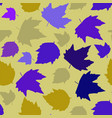 seamless background autumn maple leaves on white vector image vector image
