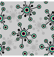 seamless blot flower pattern vector image