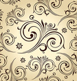 Seamless flowers wallpaper Vintage background vector image