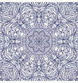 seamless monochrome ornate pattern line art vector image vector image
