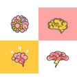 set brain conceptbrainstormingideacreativity vector image