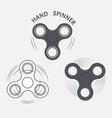 set hand spinner fidget spinner icons vector image