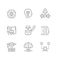 set line icons machine learning vector image