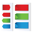 set of colorful arrows and design banners vector image vector image