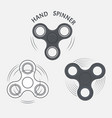 set of hand spinner fidget spinner icons vector image